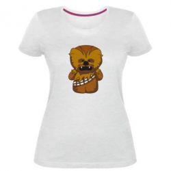 Женская стрейчевая футболка Чубакка