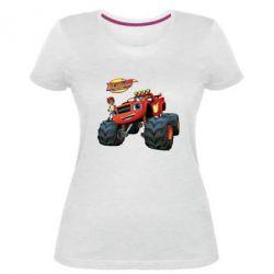 Купить Женская стрейчевая футболка Чудо-машинки. Вспыш., FatLine