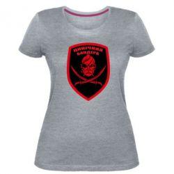 Жіноча стрейчева футболка Цинічний Бандера