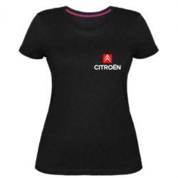 Женская стрейчевая футболка Citroën Small