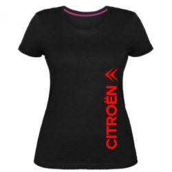 Женская стрейчевая футболка Citroen Vert