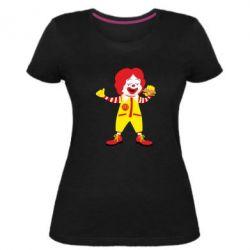 Жіноча стрейчева футболка Clown McDonald's