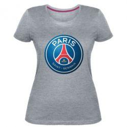 Женская стрейчевая футболка Club psg