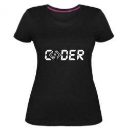 Жіноча стрейчева футболка Coder