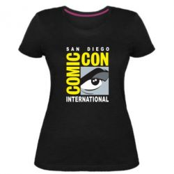Жіноча стрейчева футболка Comic-Con International: San Diego logo