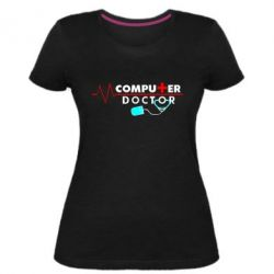 Жіноча стрейчева футболка Computer Doctor