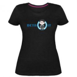 Жіноча стрейчева футболка Connor from the game Detroit: Become a Man