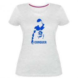 Женская стрейчевая футболка Conquer - FatLine
