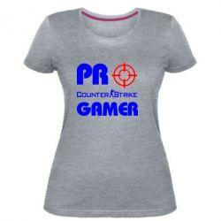 Женская стрейчевая футболка Counter Strike Pro Gamer - FatLine