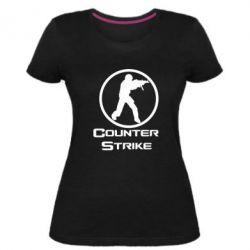 Женская стрейчевая футболка Counter Strike