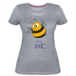 Женская стрейчевая футболка Crazy Bee