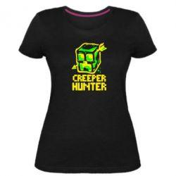 Женская стрейчевая футболка Creeper Hunter