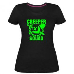 Жіноча стрейчева футболка Creeper Squad