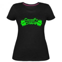 Женская стрейчевая футболка CrossFit Champ