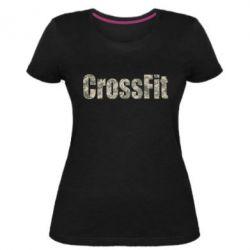 Женская стрейчевая футболка CrossFit камуфляж