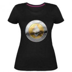 Женская стрейчевая футболка Cryptomoneta