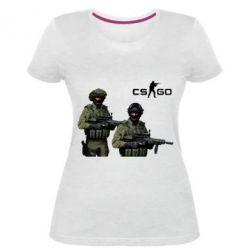 Женская стрейчевая футболка CS GO - FatLine