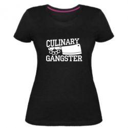 Жіноча стрейчева футболка Culinary Gangster