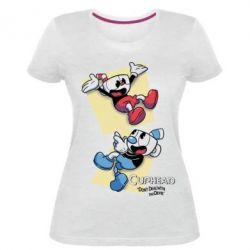 Жіноча стрейчева футболка Cuphead 1