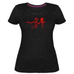 Женская стрейчевая футболка Daft Punk group