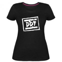 Женская стрейчевая футболка DDT (ДДТ) - FatLine