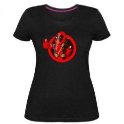 Женская стрейчевая футболка Deadpool Fallout Boy