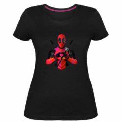 Жіноча стрейчева футболка Deadpool Love