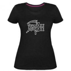 Женская стрейчевая футболка death - FatLine