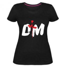 Женская стрейчевая футболка depeche mode logo