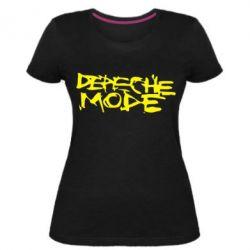 Женская стрейчевая футболка Depeche mode