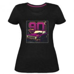 Женская стрейчевая футболка Девяностые