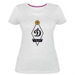 Женская стрейчевая футболка Динамо