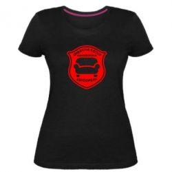 Женская стрейчевая футболка Диванна сотня. Євродиван - FatLine