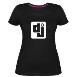 Женская стрейчевая футболка DJ star - FatLine