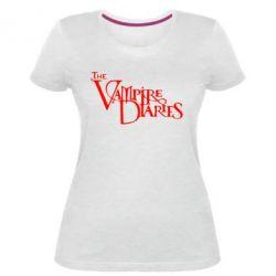 Жіноча стрейчева футболка Щоденники Вампіра Лого