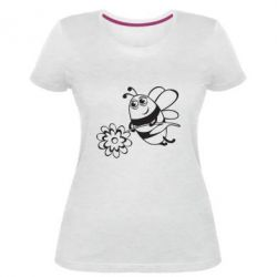 Женская стрейчевая футболка Добрая пчелка