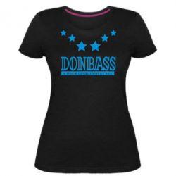 Жіноча стрейчева футболка Donbass