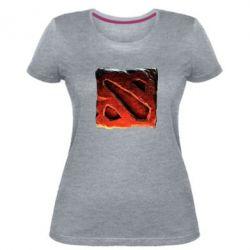 Женская стрейчевая футболка Dota 2 3d Logo