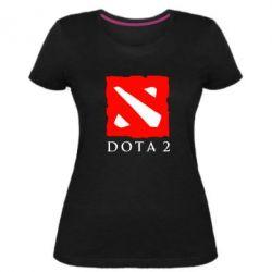 Женская стрейчевая футболка Dota 2 Big Logo