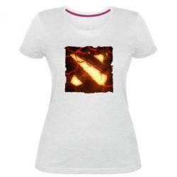 Женская стрейчевая футболка Dota 2 Fire Logo