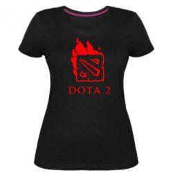 Жіноча стрейчева футболка Dota 2 Fire