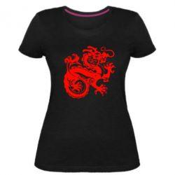 Женская стрейчевая футболка Дракон