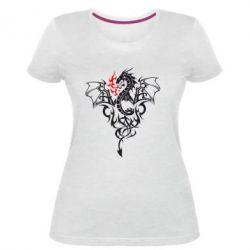 Жіноча стрейчева футболка Дракон
