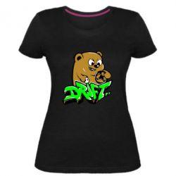 Женская стрейчевая футболка Drift Bear