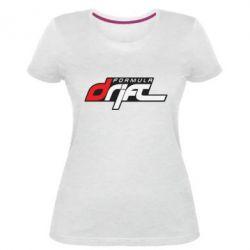 Женская стрейчевая футболка Drift Formula - FatLine