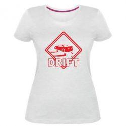 Женская стрейчевая футболка Drift - FatLine