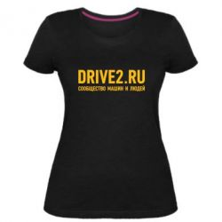 Женская стрейчевая футболка Drive2.ru - FatLine