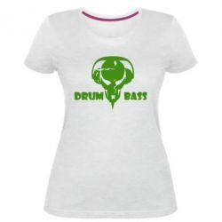 Жіноча стрейчева футболка Drumm Bass