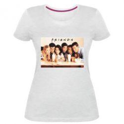 Женская стрейчевая футболка Друзья в сборе