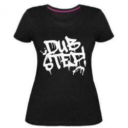 Женская стрейчевая футболка Dub Step Граффити